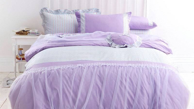 Buy Wholesale Lilac Print Comforter Sets China