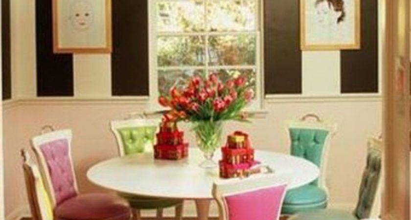 Chairs Astonishing Colorful Dining Room