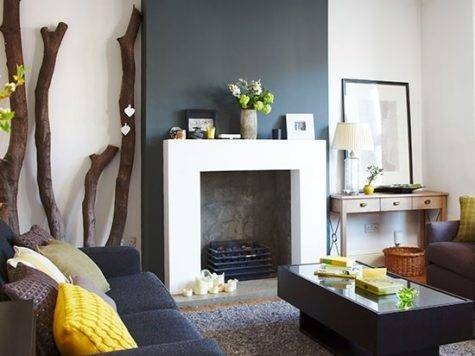 Charcoal Grey Living Room Modern House