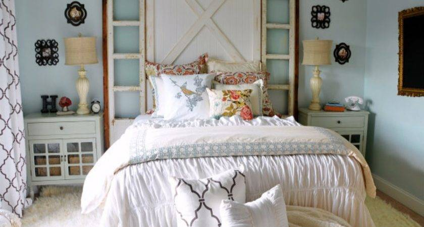 Charming Country Chic Bedroom Ideas Including Decorating