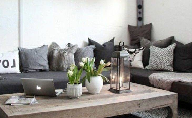Charming Gray Living Room Decor Brown Black Letter