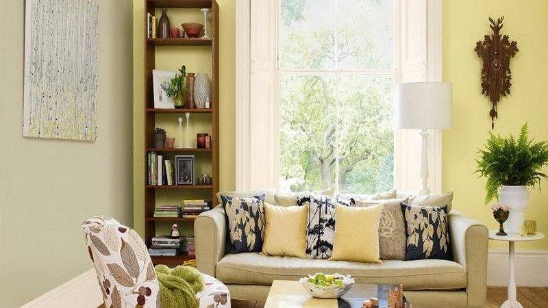 Charming Yellow Grey Wall Paint Color Combination