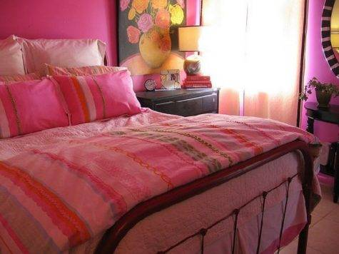 Charmong Pink Bedroom Decor Bed Pillows