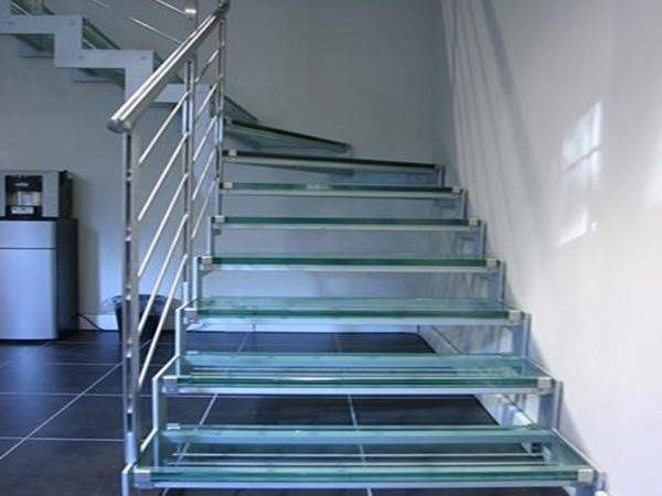 Cheap Indoor Prefabricated Glass Stairs Staircase
