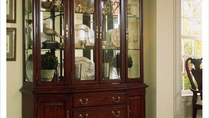 Cherry Grove Canted China Cabinet