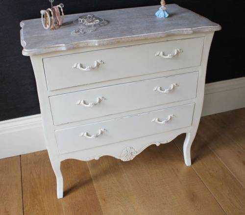 Chest Drawers Cream Bedroom Furniture Shabby French