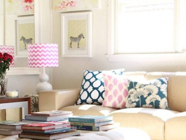 Chic Colorful Living Room Decor Spring
