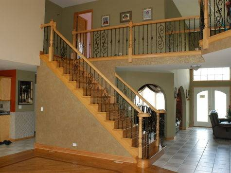 Chic Stair Railing Designs Decorating Ideas