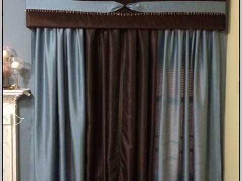 Chocolate Brown Beige Curtains Home