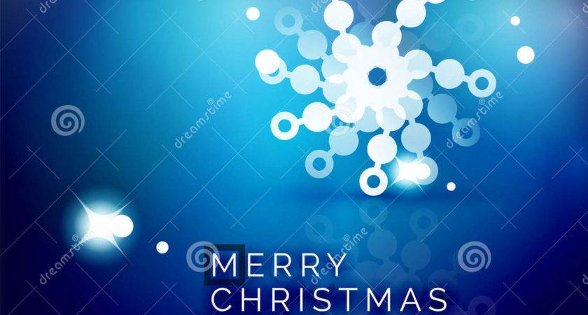 Christmas Blue Abstract Vector