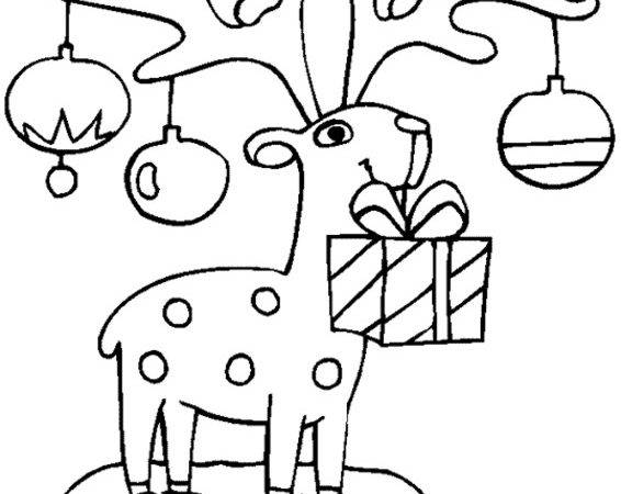 Christmas Coloring Pages Town