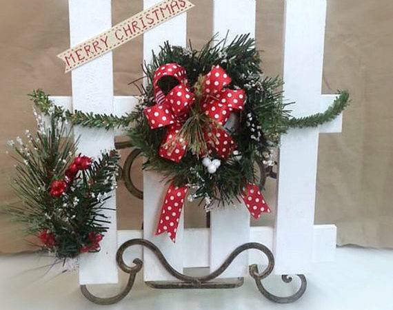 Christmas Decoration Country Fence Decor