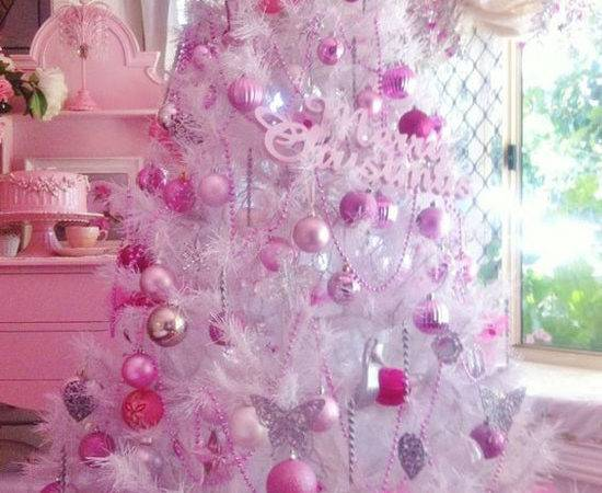 Christmas Decorations Pink Lights Card Decore