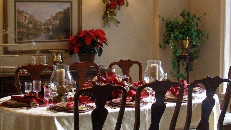 Christmas Dinner Table Setting Ideas Home Decorating