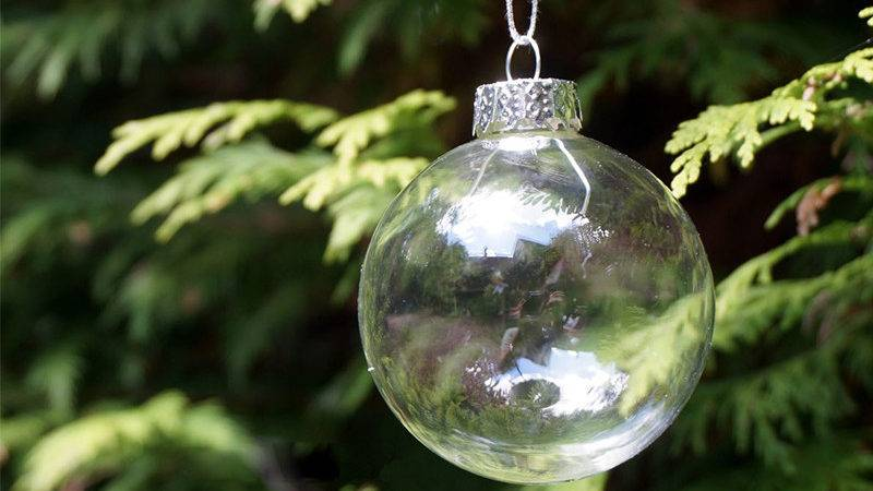 Christmas Glass Balls Clear Baubles Ornaments Decorations