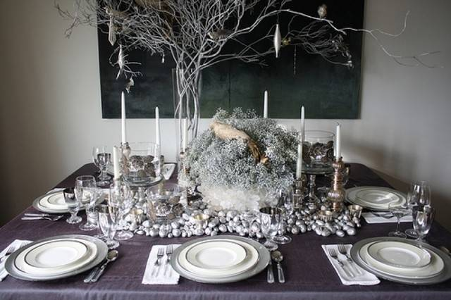 Christmas Table Decorations Silver Designcorner