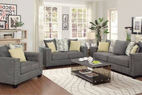 Classy Gray Living Room Furniture Sets Office