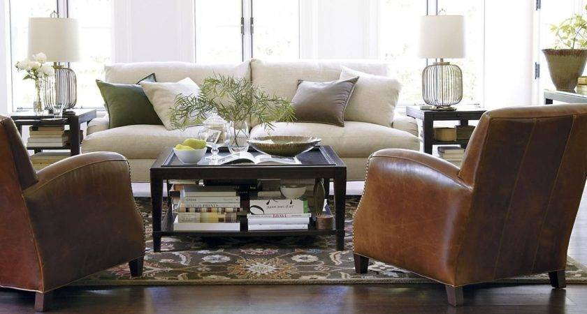 Clean Bright Living Room Neutral Colored Sofa