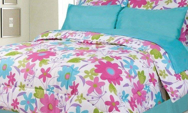 Clearance Girls Kids Bedding Becky Teal Pink White
