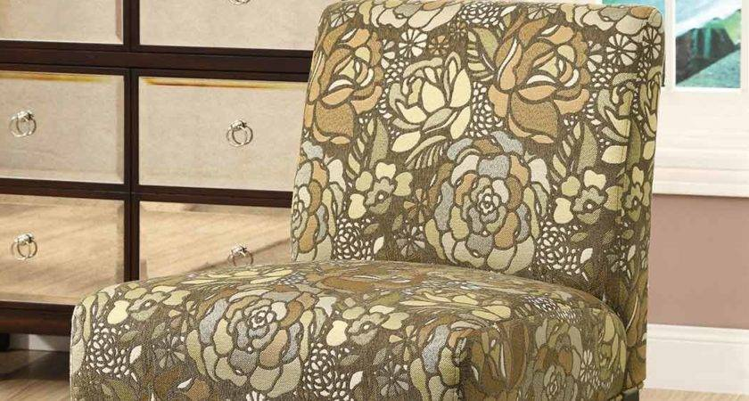 Coaster Accent Chair Earth Tone Stained Glass