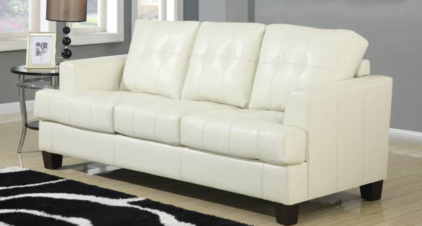 Coaster Samuel Cream Sofa Dallas Living Room