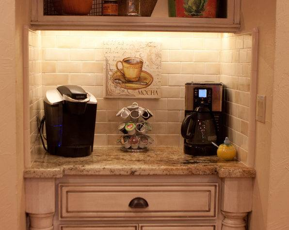 Coffee Bar Ideas Kitchen Traditional Wood Mode