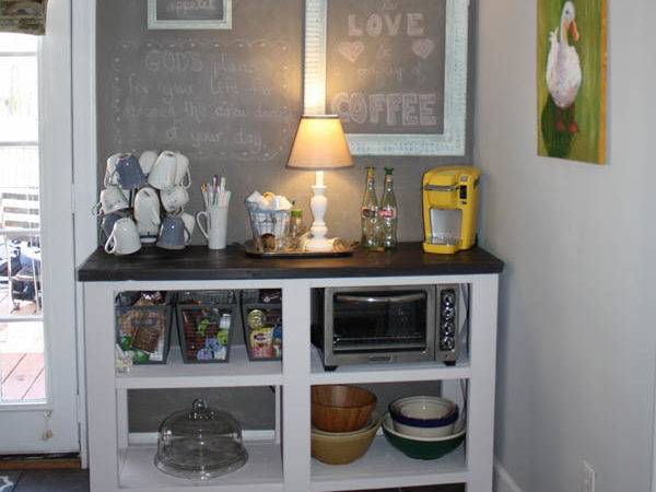 Coffee Bar Theme Furniture Makeover Day Inspired Ana