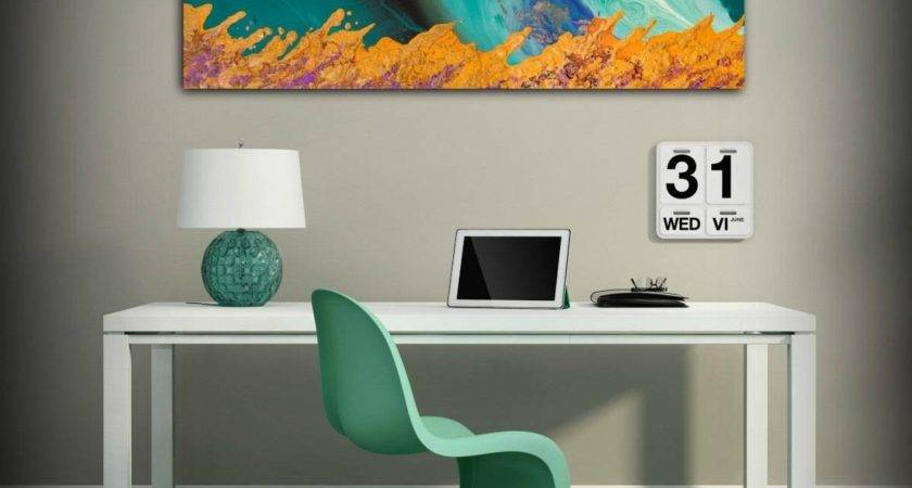 Collection Orange Turquoise Wall Art