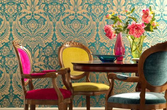 Colorful Dining Room Multicolored Chairs