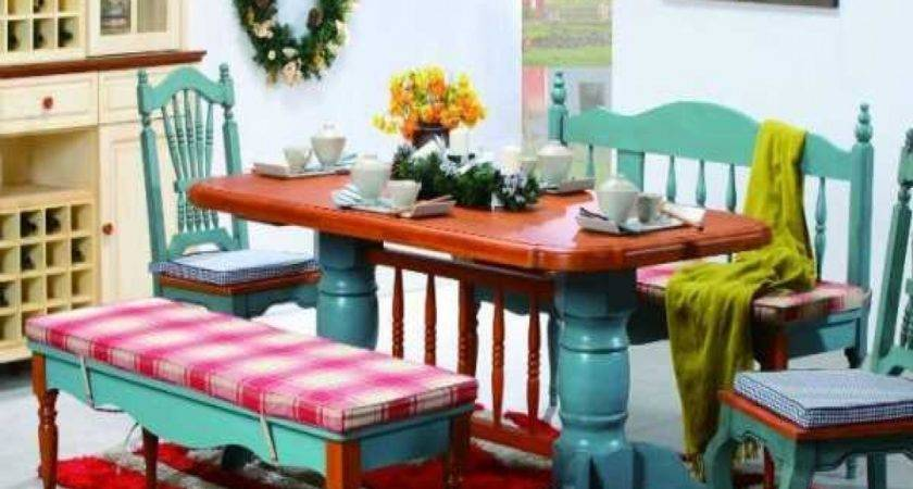 Colorful Dining Room Table Living Colors