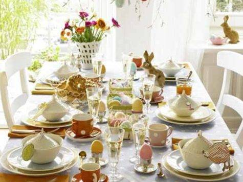Colorful Easter Ideas Spring Holiday Table Decoration