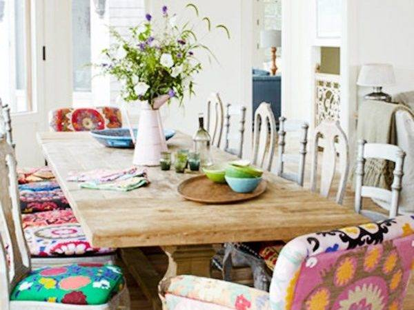 Colorful Vibrant Picturesque Dining Room Ideas
