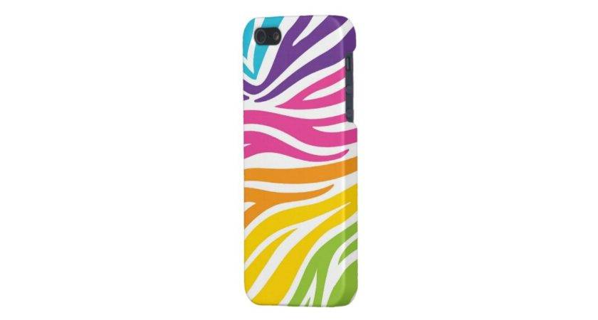 Colorful Zebra Print Cool Iphone Cases Girls Zazzle