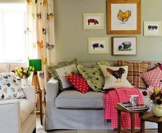 Colourful Country Living Room Designs