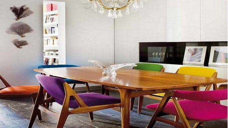 Colourful Dining Table Chairs Unique Upholstered