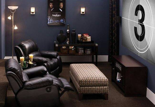 Comfortable Feel Man Cave Ideas Small Room Even