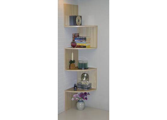 Concepts Wall Mounted Corner Shelving Unit Maple
