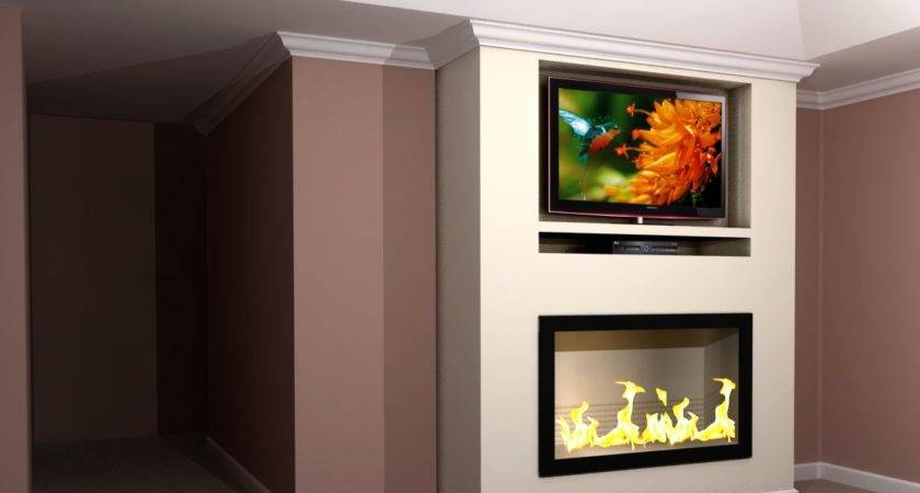 Contemporary Built Fireplace Wall Rendering Nick