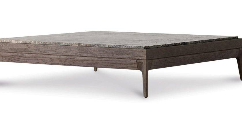 Contemporary Coffee Table Wooden Glass Marble