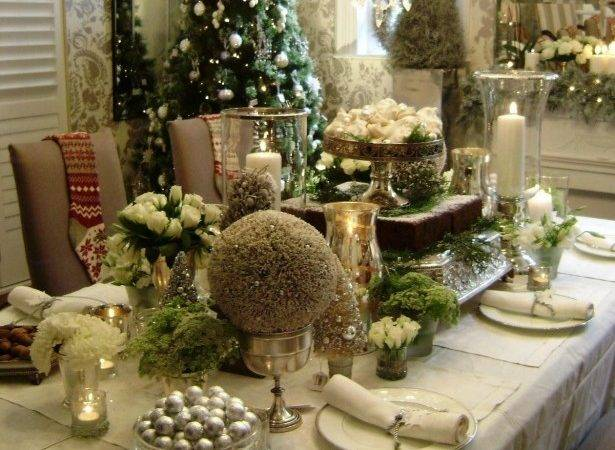 Contemporary Dining Table Elegant Christmas Settings