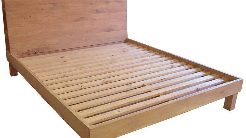 Contemporary French Oak Bed Doors Drawers Custom