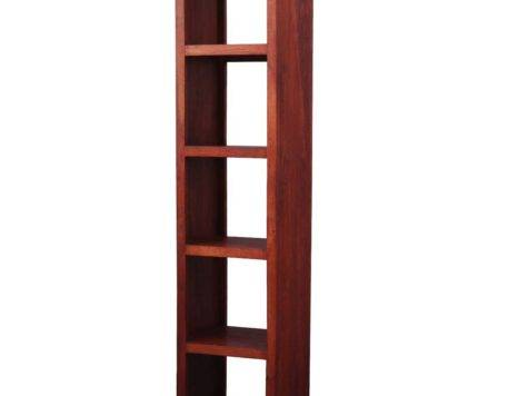 Contemporary Solid Hardwood Open Back Media Tower Bookcase