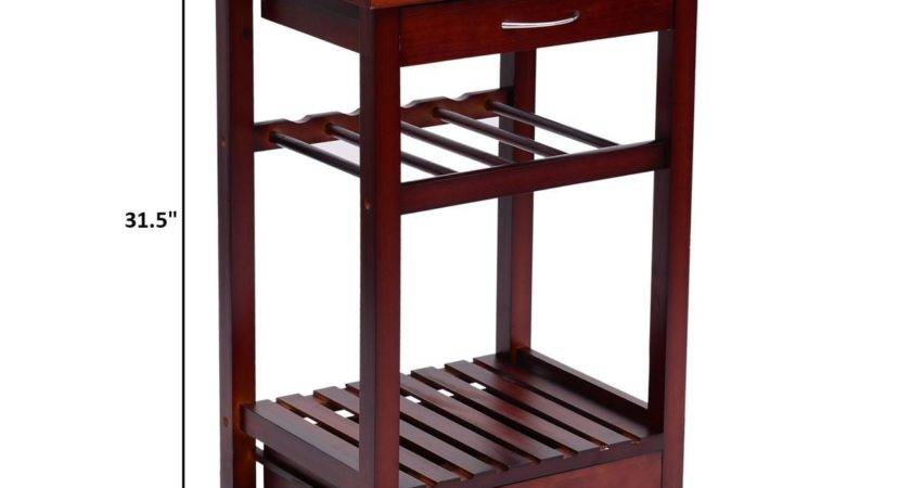 Convenience Boutique Rolling Wooden Storage Cart