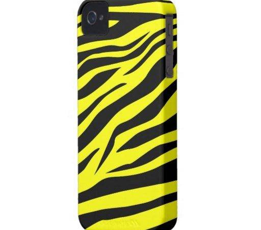 Cool Black Yellow Zebra Print Iphone Case Zazzle
