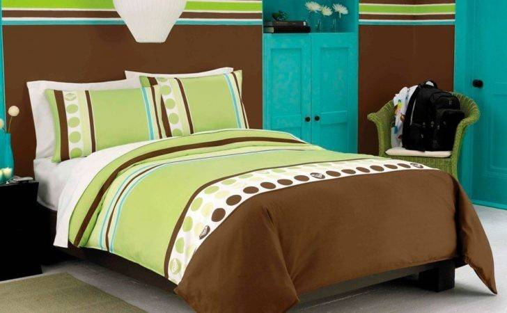 Cool Brown Lime Green Bedding Homes Designs
