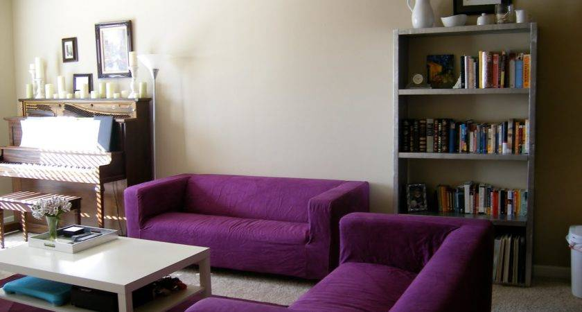 Cool Brown Purple Living Room Decoration
