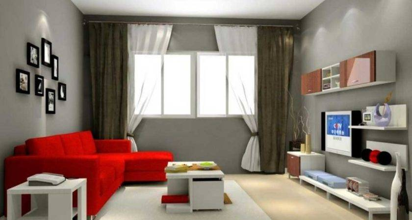 Cool Gray Living Room Color Ideas Red Modern Sofa