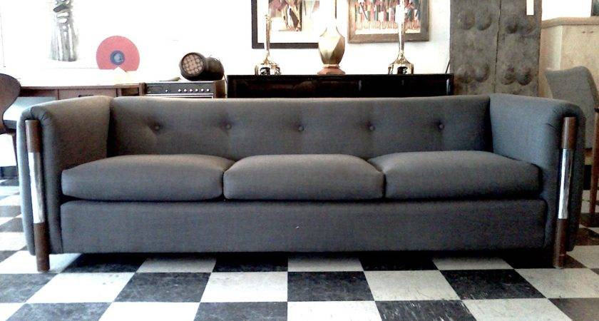 Cool Modern Furniture Tufted Grey Fabric Sectional Sofa