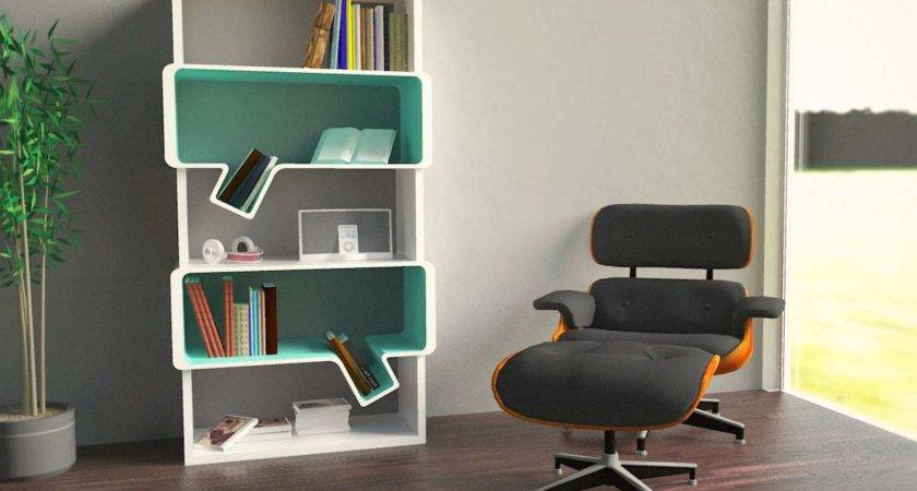 Cool Unique Bookshelves Designs Standing