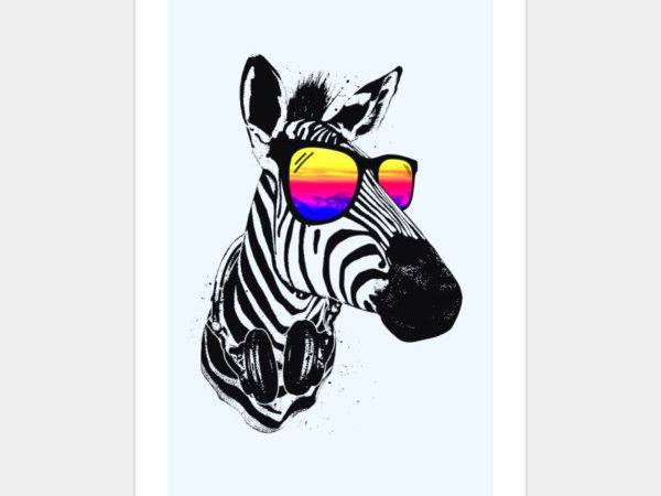 Cool Zebra Art Print